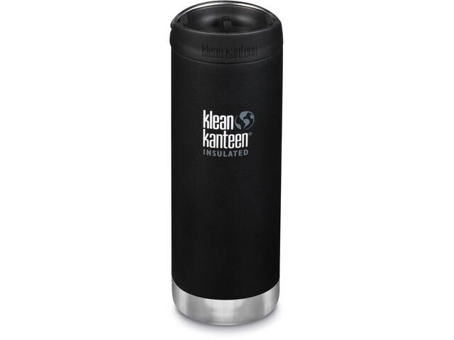 Klean Kanteen TKWide Drinkfles met Café Cap 473ml vacuüm geïsoleerd, zwart